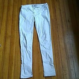 Hollister super skinny white jeans size 3R